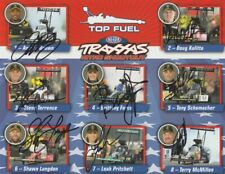 2016 NHRA Top Fuel Traxxas Shootout signed postcard 8 drivers PRITCHETT FORCE