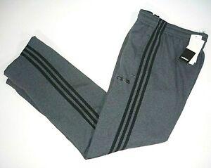 Adidas Mens Sm Essential 3-Stripe Fleece Sweatpants Activewear Gray Heather, New