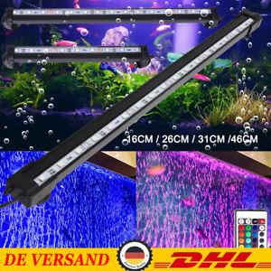 LED RGB Air Bubble Aquarium Mondlicht Unterwasser Lampe Wasserdicht Beleuchtung