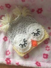 Handmade Crochet Baby Owl Hat Newborn