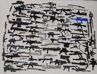 LOT 20 50 60 80 GI Joe Cobra figure's Accessories Guns sword Weapons BY random
