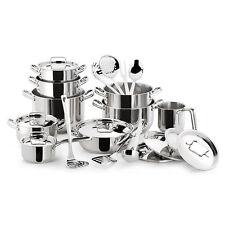 LAGOSTINA Batteria Pentole SFIZIOSA 24 pz Inox18/10 induzione induction cookware