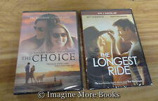 2 Nicholas Sparks NEW/SEALED DVDs ~ The Choice & The Longest Ride