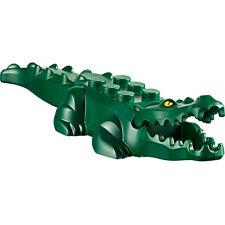 Lego ALLIGATOR Crocodile Animal -Dark Green with Yellow Eyes -NEW