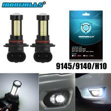 2x Hb3 9145 9140 H10 6000K 100W Led Cree Projector Fog Driving Light Bulb(Fits: Neon)