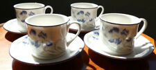 4 Royal Doulton China Minerva 1084 Cups & Saucers 1989
