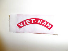 b0314 VIET-NAM Tab woven shoulder Hat patch RVN Vietnam IR9C