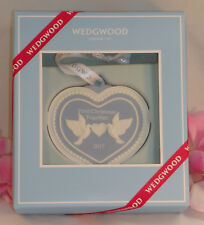 New Wedgwood Blue Jaspeware 1ST First Christmas Together Ornament 2017 Heart