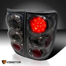 1995-2004 Chevy S10 Blazer Jimmy Smoke LED Tail Lights Rear Brake Lamps L+H