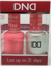 DND Daisy Duo Gel W/matching nail polish lacquer - PASTEL ORANGE - 426