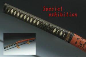 Japan antique Red daito katana koshirae Dragon sword tsuba yoroi samurai Busho