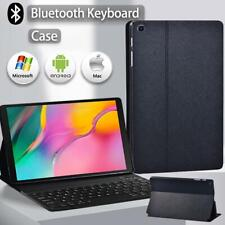 For Samsung Tab A/ S5e/ s6 lite Leather Stand Case Cover+ Bluetooth Keyboard