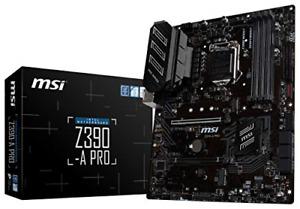 MSI Z390-A PRO LGA1151 Intel 8th and 9th Gen M.2 USB 3.1 Gen 2 DDR4 HDMI DP CFX