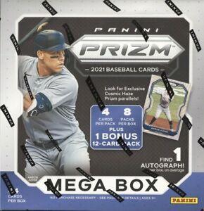 2021 PANINI PRIZM BASEBALL 8 PACK (PLUS BONUS PACK) FACTORY SEALED MEGA BOX QTY