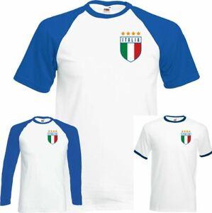 Italia Football T-Shirt Top World Cup 2018 Italy Italian Footy Jersey Retro Kit