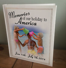 Personalised large photo album, memory book, America holiday vacation present