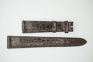OMEGA NOS Vintage Leather Watch Strap Brown 18/14 18mm (B222)