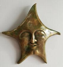 Celestial Star Mask Art Deco Home Garden Wall Decor Sculpture