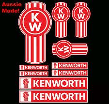 10 KENWORTH Truck Emblem Decal Sticker Pack Dash Bullbar Bonnet Semi Trailer
