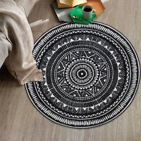 Round Outdoor Floor Rug Mat Pads Geometric Acrylic Fibres Non-slip Carpet
