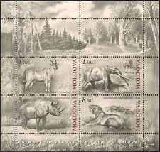 Moldova 2011 Prehistoric Animals/Tiger/Deer/Wildlife/Nature 4v m/s (n44417)