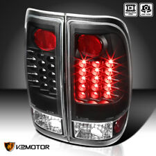 Black 97-03 Ford F150 99-07 F250 F350 Superduty LED Brake Tail Lights Left+Right