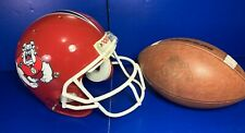 Fresno State Bulldogs Game Used Football And Authentic Helmet Mears LOA