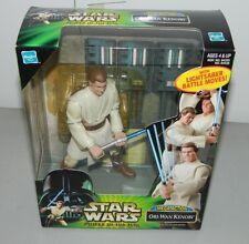 Star Wars Power Of The Jedi Mega Azione Obi-Wan Kenobi Potj Spada Laser Nuovo