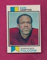 1973 TOPPS # 145 FALCONS DAVE HAMPTON  NRMT-MT  ROOKIE CARD (INV# A3035)