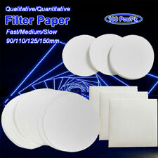 100pcs Circular Qualitative/Quantitative Filter Filting Paper Ashless Lab Supply