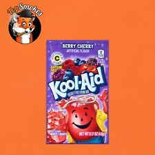 1 Box 48 Pack Packets Kool-Aid Drink Flavor Mix Berry Cherry Unsweetened USA