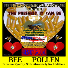 HONEY BEE POLLEN With Absolutely No Additives Raw Powder Energy USA 30 Capsules