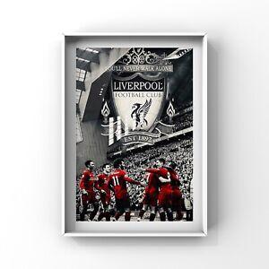 LIVERPOOL FC art print wall art decor LFC poster gift size A4