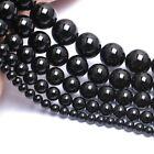 Natural Black Tourmaline Gemstones Round Beads 15.5'' 4mm 5mm 6mm 8mm 10mm 12mm