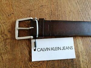 Calvin Klein Brown Leather Belt 90cm
