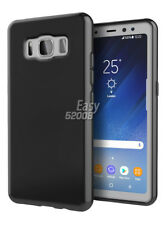 Black Soft Glossy Gel TPU Skin Silicone Case Cover for Samsung Galaxy S8 Active
