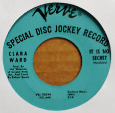 CLARA WARD - IT IS NO SECRET b/w I PRAY FOR PEOPLE - VERVE 45 - BLUE LBL PROMO
