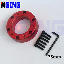 UNIVERSAL  STEERING WHEEL PAD SPACER HUB ADAPTER GASKET 6BOLTS ALLEN KEY  25MM