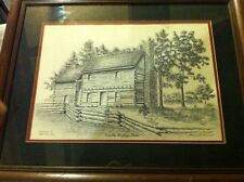 Abe Lincoln Heritage House Print Ltd Edition W/Paperwork
