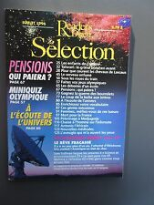 Selection Reader's Digest Magazine Mensuel Juillet 1996 Frncais  Neuf