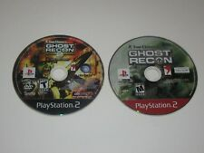 Ghost Recon Games - Playstation 2 Ps2 Lot of 2 - Disc Only