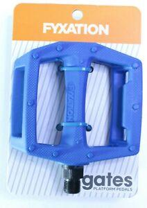 "Platform Pedal 9/16"" Spindle Nylon BMX Fixed Gear MTB Fyxation Gates USA Charity"