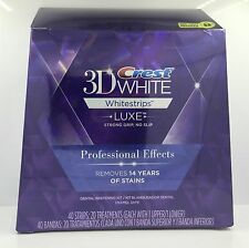 Crest 3D White Luxe Whitestrips Whitening Professional Effects 40strips 20 Pouch