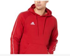 Adidas Felpa Rossa Uomo con Cappuccio Core18 Red Hoody