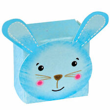 10 x Battesimo Baby Shower Festa Favore Scatole blu Bunny piccole scatole di tabella