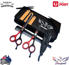 "PROFESSIONAL HAIRDRESSING BARBER SALON HAIR CUTTING SCISSORS SHEARS 6"" SET"