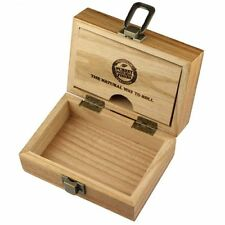 raw Wooden Rolling Box , for  Tips, Rizla papers