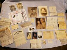 World War Ii American Soldier Pictures Paperwork Ephemera
