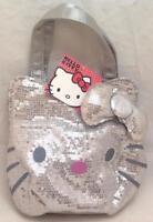 Sanrio Hello Kitty Silver sequin handbag purse tote, NWT