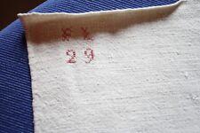 Nappe N°33 ancienne en chanvre  180 x 100 cm liteaux état neuf